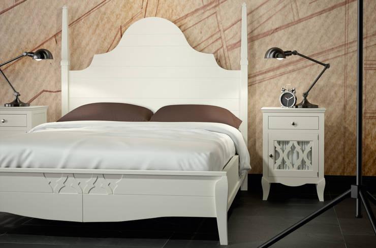 DORMITORIOS: Dormitorios de estilo  de CREA Y DECORA MUEBLES