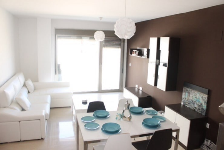 Vista general 1.: Comedor de estilo  de Blanc-O Arquitectura de Interiores y Decoración