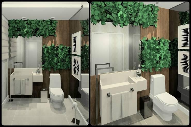 Lavabos: Banheiros  por Kubbo Arquitetos