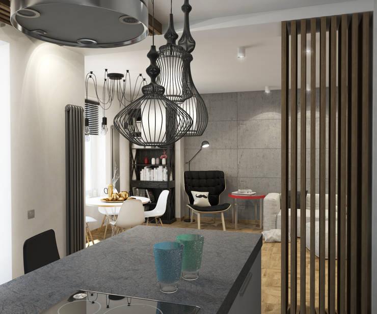 Кухня-Гостиная: Кухни в . Автор – tatarintsevadesign