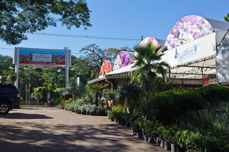 Área de Entrada da Empresa Vista Interna: Espaços comerciais  por Blumengarten Plantas e Flores LTDA,