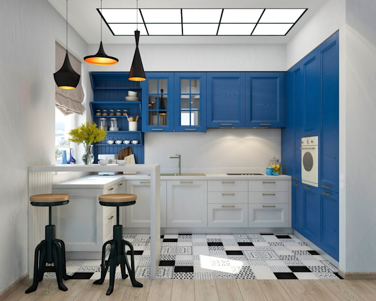mediterranean Kitchen by tatarintsevadesign