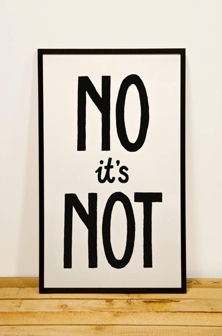 No it's Not:  Kunst  door Lennart Wolfert - Graphic Artist