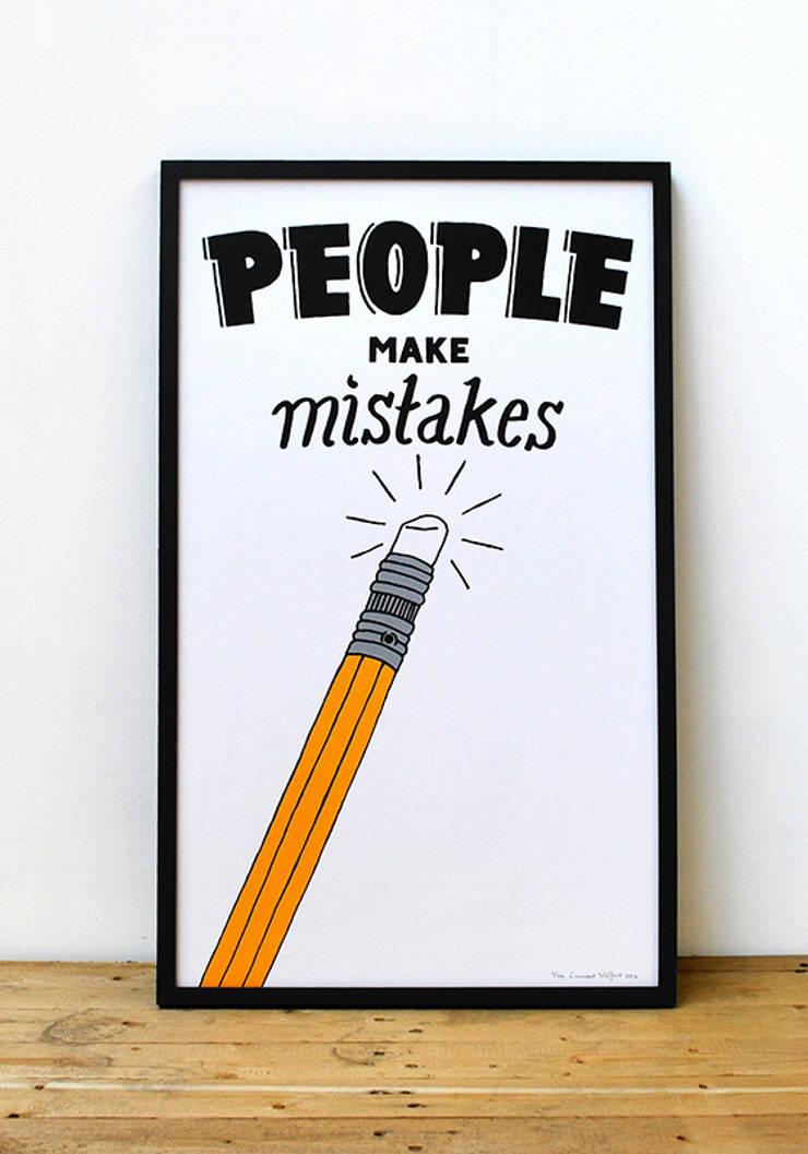 People Make Mistakes:  Kunst  door Lennart Wolfert - Graphic Artist