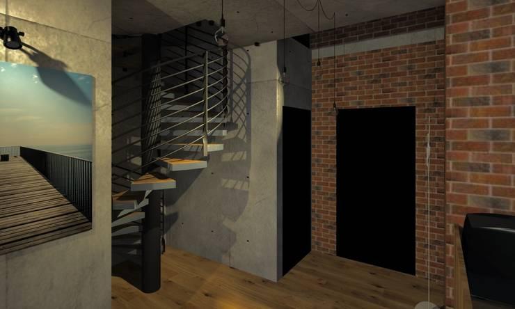 Przedpokój: styl , w kategorii Salon zaprojektowany przez Agata Smok Wnętrza,Industrialny