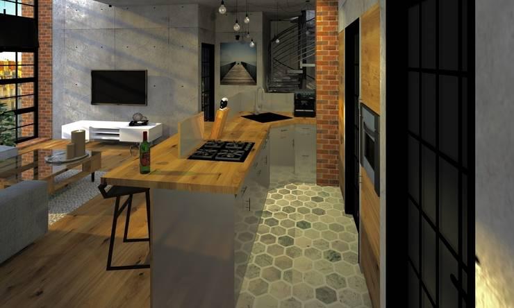 Kuchnia: styl , w kategorii Kuchnia zaprojektowany przez Agata Smok Wnętrza,Industrialny