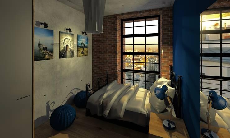 Przestrzeń nastolatki: styl , w kategorii Pokój dziecięcy zaprojektowany przez Agata Smok Wnętrza,Industrialny