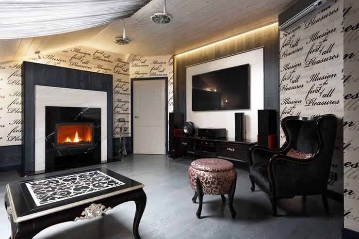 AGRAFFE design: klasik tarz tarz Multimedya Odası
