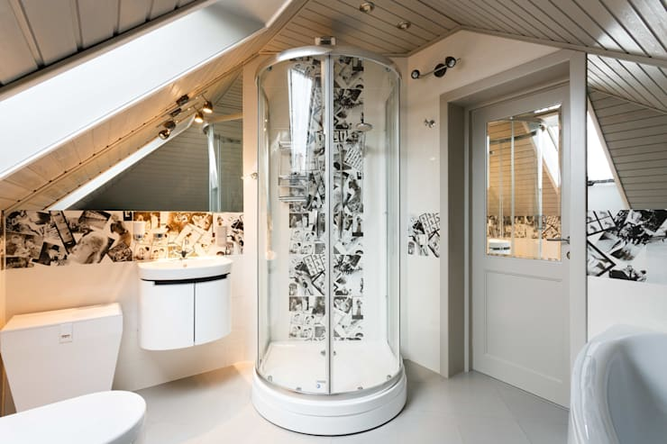 Дом в г.Калининграде: Ванные комнаты в . Автор – AGRAFFE design
