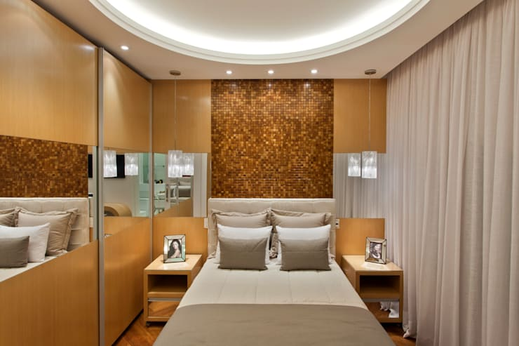 Projekty,  Sypialnia zaprojektowane przez Arquiteto Aquiles Nícolas Kílaris