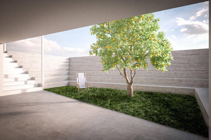 Honey, I shrunk the kids: Giardino in stile in stile Moderno di Memento Architects