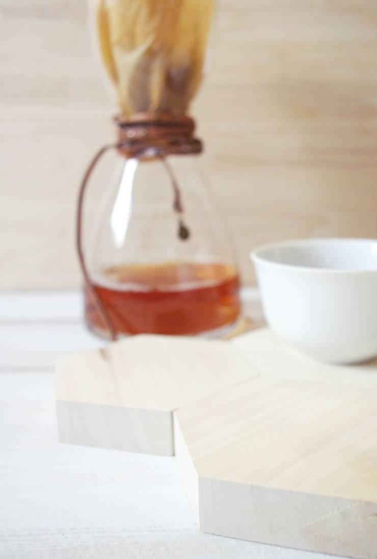 HEX – komplet dwóch podstawek: styl , w kategorii Kuchnia zaprojektowany przez AnyTHING  Manufacture of Wood