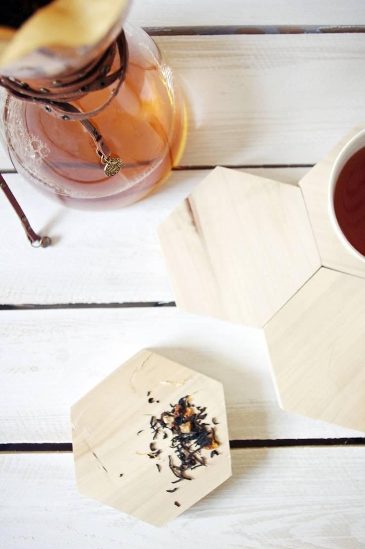 HEX – komplet dwóch podstawek: styl , w kategorii Salon zaprojektowany przez AnyTHING  Manufacture of Wood