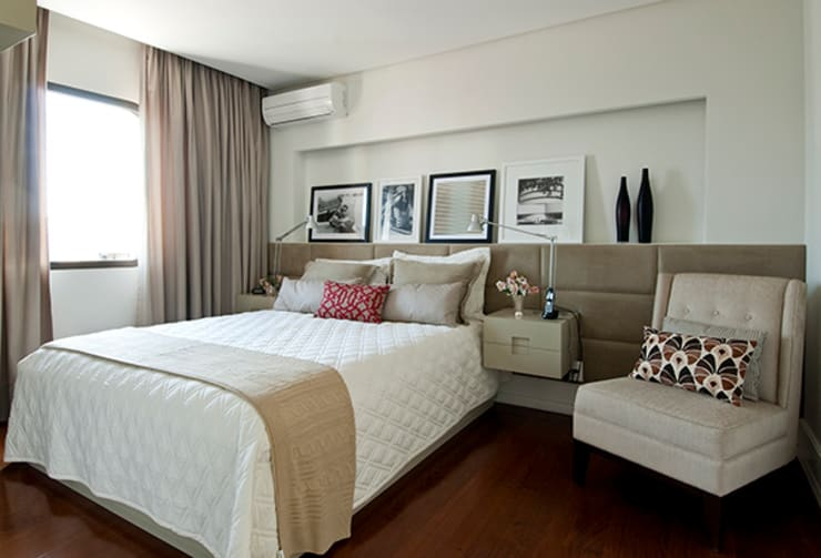 Apartamento Itaim: Quartos  por Marcella Loeb