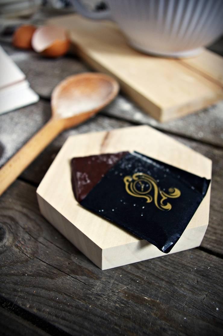 HEX – komplet dwóch podstawek: styl , w kategorii Gospodarstwo domowe zaprojektowany przez AnyTHING  Manufacture of Wood