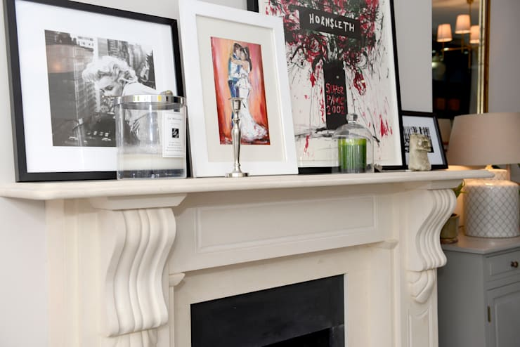 Family Home:  Living room by Ruth Noble Interiors