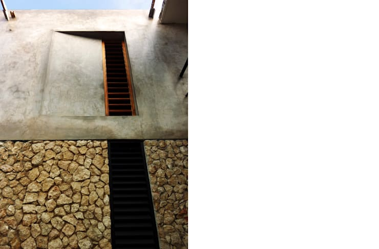 Estudio W14: Casas de estilo  por TACO Taller de Arquitectura Contextual