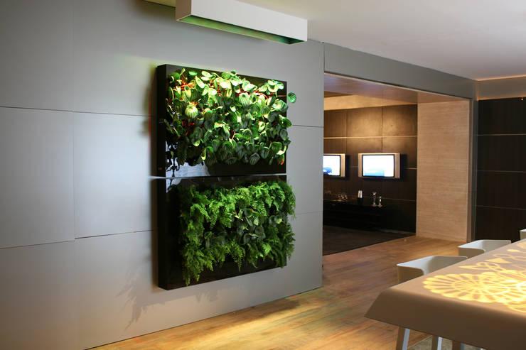 Quadro Vivo®: Sala de jantar  por Quadro Vivo Urban Garden Roof & Vertical