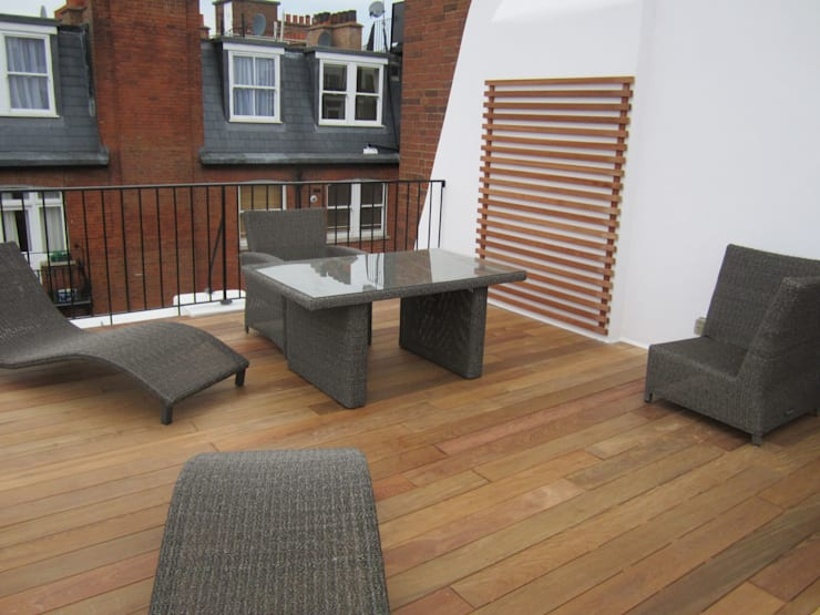 Ipe hardwood decking:  Terrace by Greenmans Yard