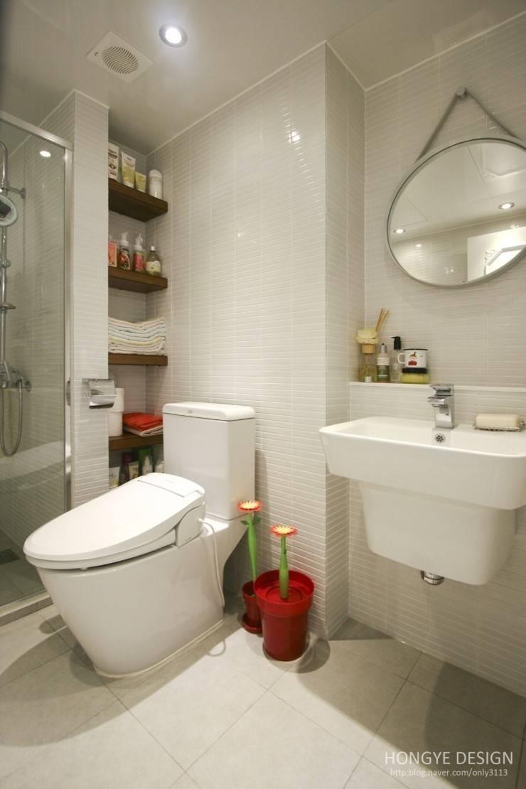욕실 : 홍예디자인의  욕실