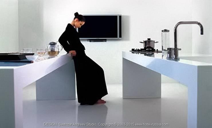 D_WHITE KITCHEN: Кухня в . Автор – Svetozar Andreev Architectural Studio: Hotei-Russia ,