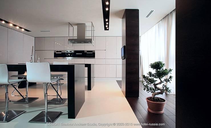 D_BLACK KITCHEN: Кухня в . Автор – Svetozar Andreev Architectural Studio: Hotei-Russia ,