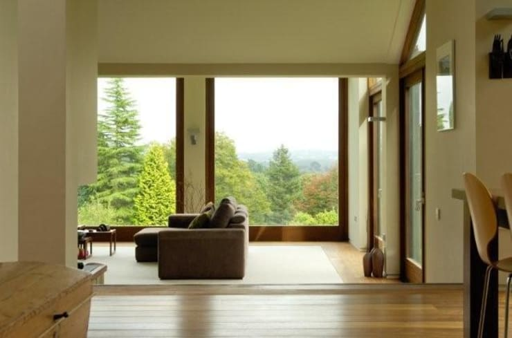 Open plan living space: modern Living room by Giles Jollands Architect