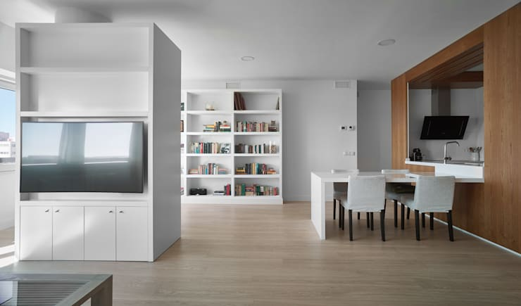 Decoración Salón: Salones de estilo moderno de CM4 Arquitectos