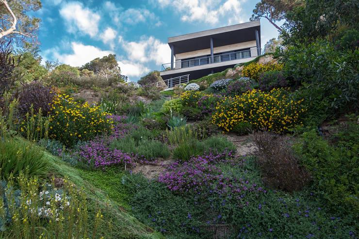 Jardin en flor en primavera: Jardines de estilo  de LANDSHAFT
