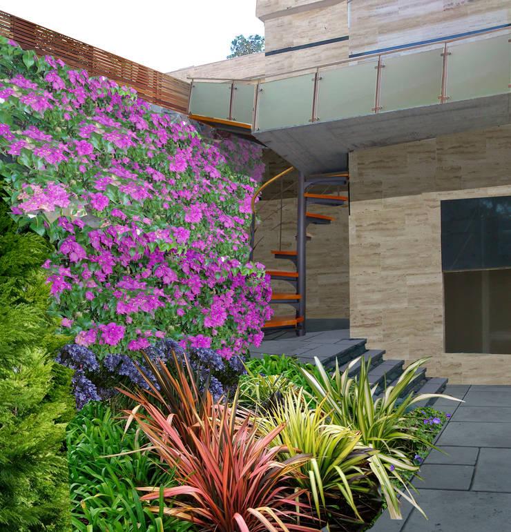 Collage Rincón en la terraza:  de estilo  de LANDSHAFT