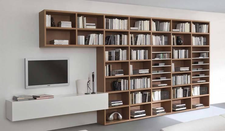 Libreria Componibile Legno.Libreria Componibile In Legno Mod Wood Di Sololibrerie Homify