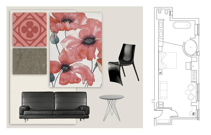Habitación Junior Suite:  de estilo  de Marta del Valle