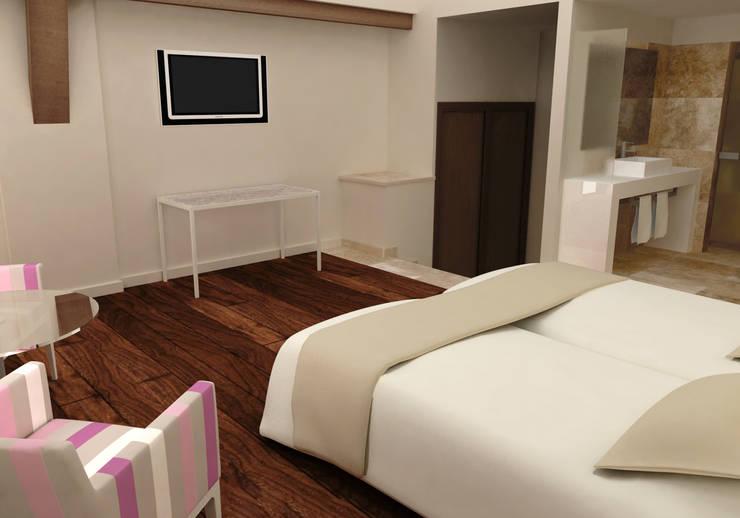 Habitación doble superior:  de estilo  de Marta del Valle