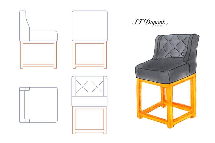 Diseño de sillas : Oficinas y Tiendas de estilo  de Marta del Valle