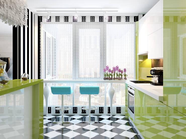 Квартира в стиле Энди Уорхола: Кухни в . Автор – Студия дизайна интерьера Маши Марченко