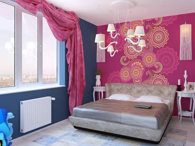 Квартира в стиле Энди Уорхола: Спальни в . Автор – Студия дизайна интерьера Маши Марченко