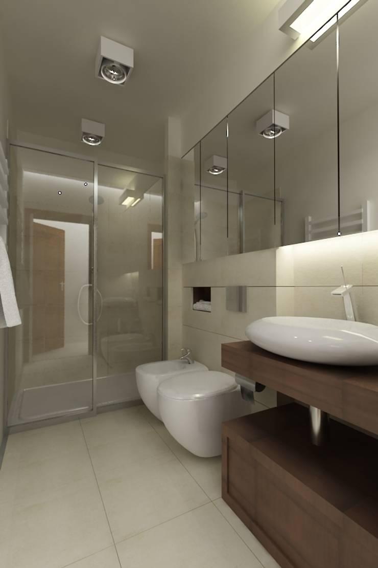 Projekt wnętrza łazienki: styl , w kategorii Łazienka zaprojektowany przez Studio architektoniczne Premiere Design Warszawa