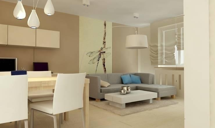 Pokój dzienny: styl , w kategorii Salon zaprojektowany przez Studio architektoniczne Premiere Design Warszawa