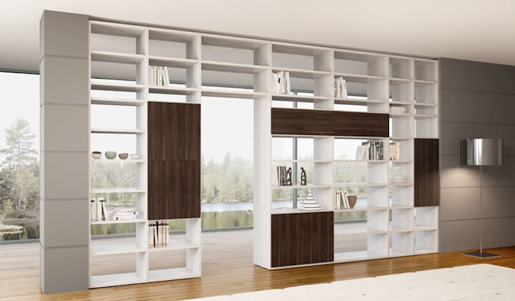 modern Living room by soloLibrerie