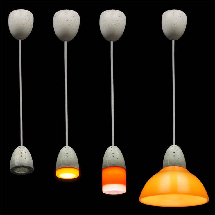 Lampy model MinimaLed BetonArchit. 0.3: styl , w kategorii Korytarz, hol i schody zaprojektowany przez Pracownia Sztuki Użytkowej