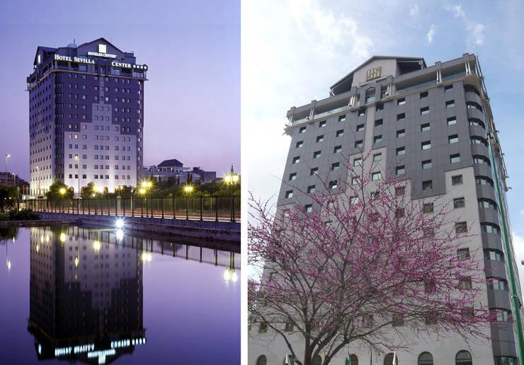 Hotel Sevilla Center ****: Hoteles de estilo  de Estudio de arquitectura Jesús del Valle