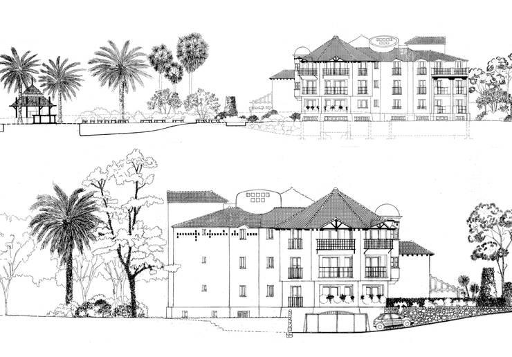 Residencial las Mimosas:  de estilo  de Estudio de arquitectura Jesús del Valle
