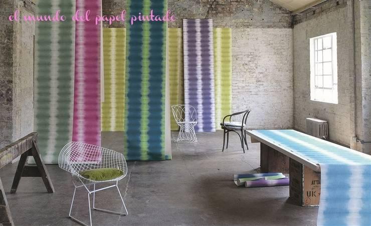 Designers Guild - Savine: Paredes y suelos de estilo  de El Mundo del Papel Pintado