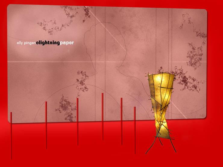 Lichtsculptuur Omber:  Woonkamer door Elly Pingen Ecodesign