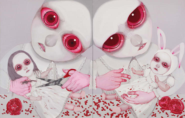 paintings- A Portrait of Pain-Ridden Human Existence: ByungheeSung의  아트워크