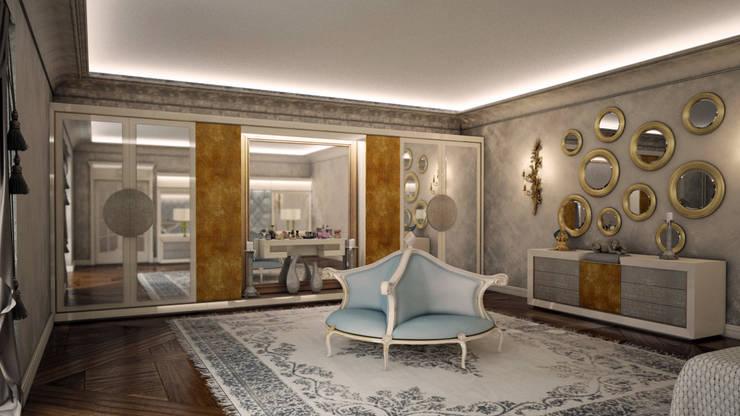 Sonmez Mobilya Avantgarde Boutique Modoko – Golden Yatak Odası / Özel:  tarz Giyinme Odası