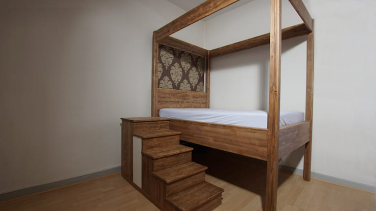 rustic Bedroom by BL Möbelwerk