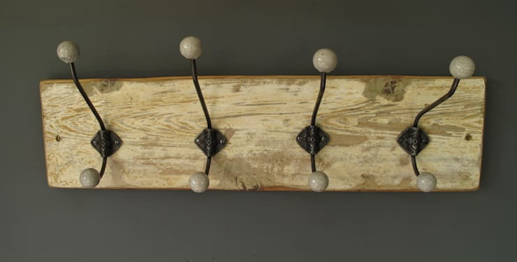 Vintage Hat and coat rack:  Corridor, hallway & stairs by Seagirl and Magpie