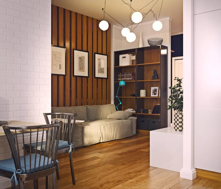 дизайн квартиры 50м2: Гостиная в . Автор – sreda
