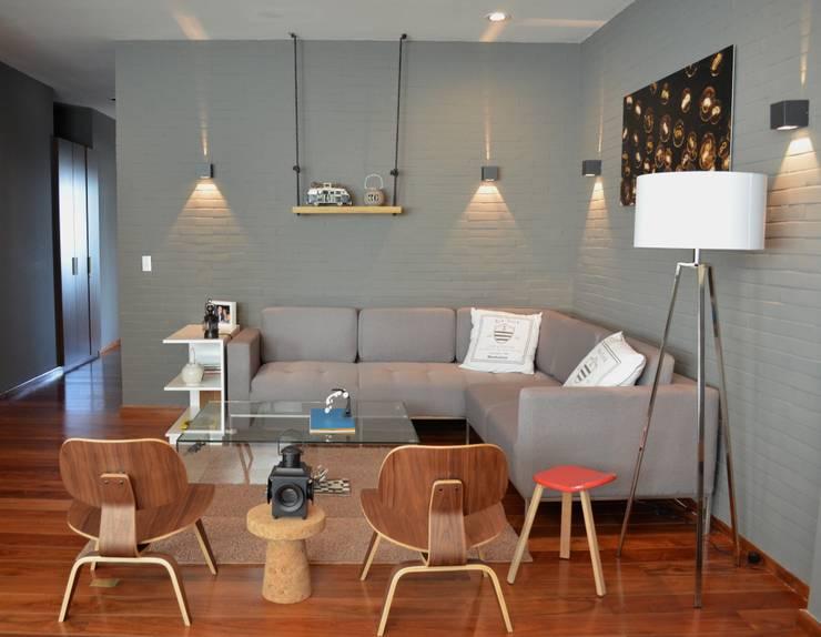 Sala Santa Fe, Hat Diseño: Salas de estilo  por Hat Diseño